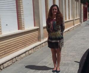 Sofia Castaños, davant del CP Cristòfol Colom